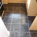 Slate Amtico Vinyl with Silver Feature Strip
