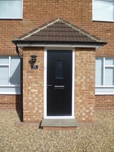 Fitted with UPVC Wood Grained Effect Composite Front Door