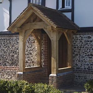 Oak Framed Front Porch