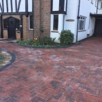 Block paved driveway with charcoal paved edgings