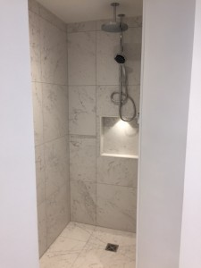 Wet room with carrera Marble