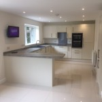 Kitchen/Dining room where originally separated & knocked through to create a modern open plan area