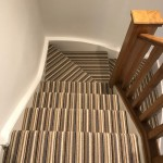 Stripe feature carpet