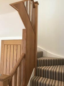 Solid European oak staircase