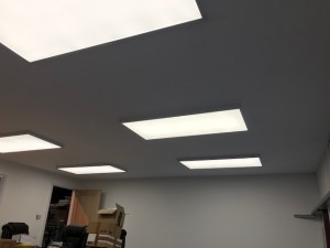 Flat L.E.D ceiling light panels