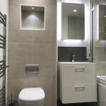 Contemporary bathroom to include recessed L.E.D lighting & wireless shower / bath controls
