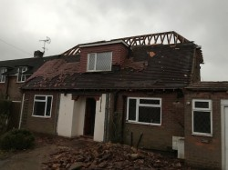 Existing bungalow before being demolished